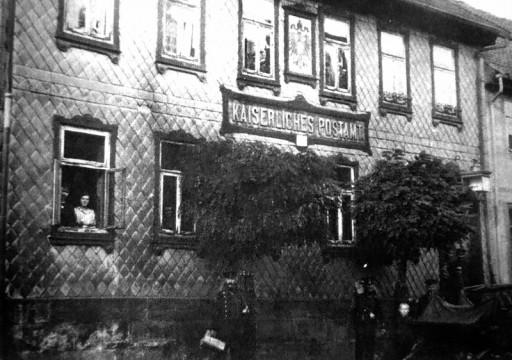, he_0068, Lange Straße, altes Postamt, um 1910