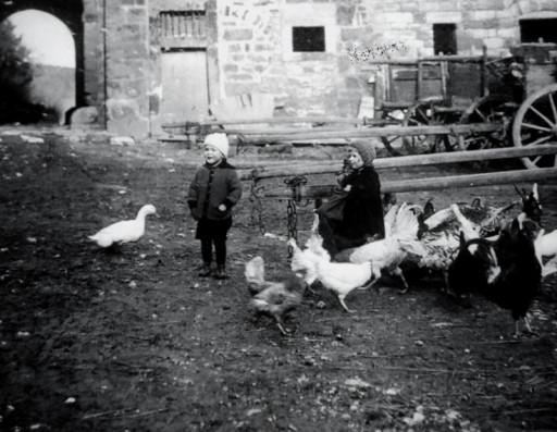 , he_0196, Innenhof Domäne, um 1922