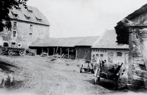 , he_0198, Die Stallungen der Domäne, um 1922