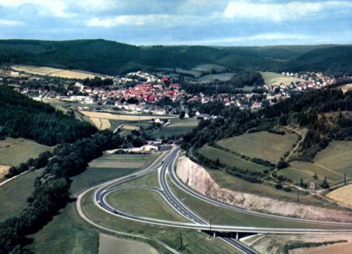 , te_0092, Hardegsen 1971, neues Bundesstraßen-Dreieck, 1971
